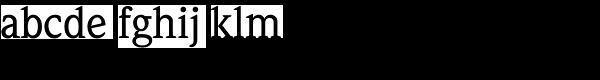 Weidemann Std-Medium Font LOWERCASE
