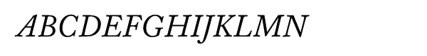 Williams Caslon Text Italic  What Font is