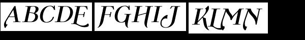 Wolverton Text No.1 Oblique Bold  What Font is