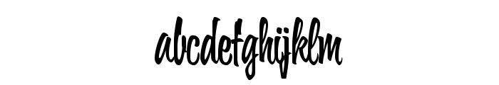 Wonder Brush Font LOWERCASE