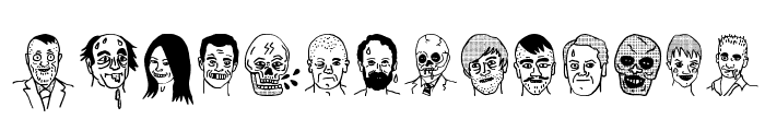 woodcutter people faces  What Font is
