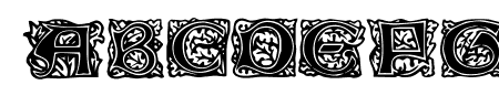 Chaucerian Initials Sample