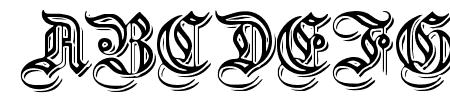 EmbossedGermanica Sample