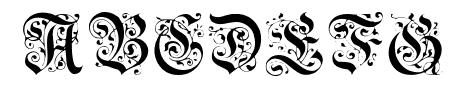 Uechi Gothic Sample