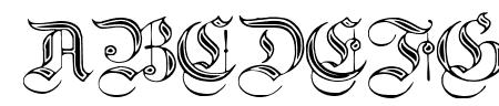 Teutonic No2 DemiBold Sample