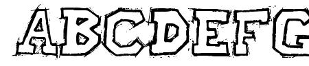 Raslani American letters Bold Sample