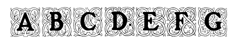 Roycroft Initials Sample