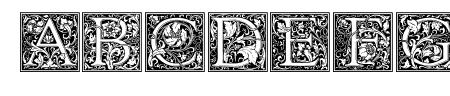 Goudy Initialen Sample