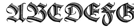 Deutsche Zierschrift Sample