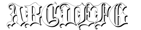 Blackletter Shadow Sample