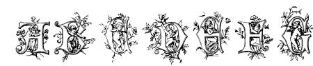 Cherubim Initials Sample