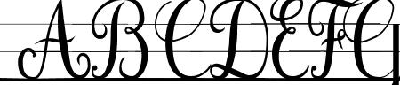 Cursif & Lignes Sample