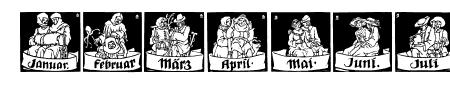 Monats-Vignetten 1 Sample