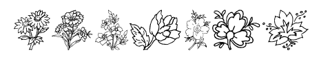 Traditional Floral Design III Sample
