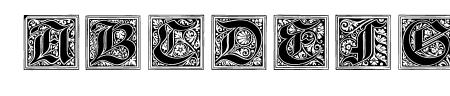 Neugotische Initialen Sample