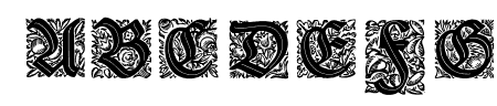 Druckschrift-Initialen Sample