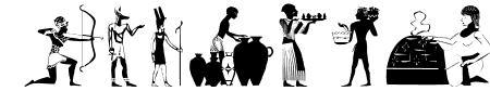 EgyptianSilhouettes Sample