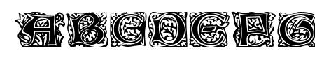 Eichenlaub Initialen Sample