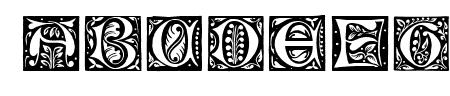 Gotische Initialen Sample