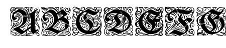 Rediviva Zierbuchstaben Sample