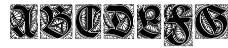 Ehmcke-Schwabacher Initialen Sample