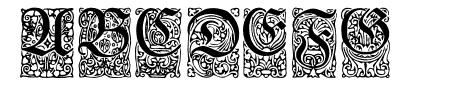 Unger-FrakturZierbuchstaben Sample