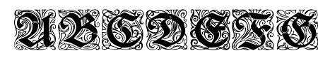 RedivivaZierbuchstaben Sample