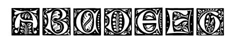 GotischeInitialen Sample