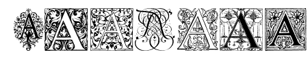 Ornamental Initials A Sample