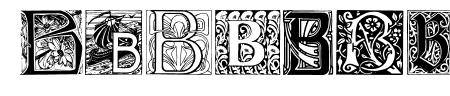 Art Nouveau Initials B Sample