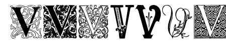 Ornamental Initials V Sample