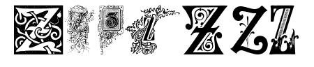 Ornamental Initials Z Sample