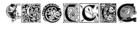 Art Nouveau Initials C Sample