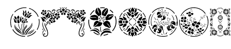 Floral Stencil Design Sample