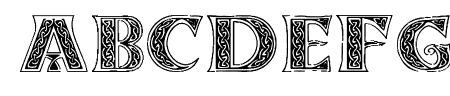 Pauls Celtic Font 3 Sample