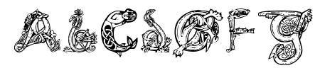 Pauls Illuminated Celtic Font Sample