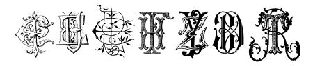 Intellecta Monograms Random Samples Sample