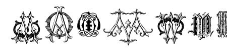 Intellecta Monograms Random Samples Five Sample