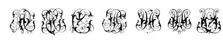 Hard to Read Monograms Sample