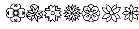 Flowers dots bats tfb Sample
