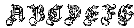 Sketch Gothic School Sample