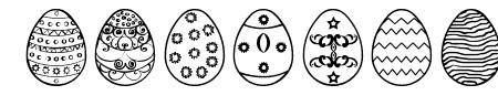 Easter eggs ST Sample