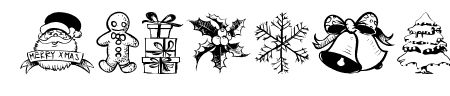 Hand Christmas Doodle Sample