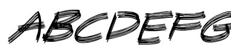 Sandscrape Italic Sample