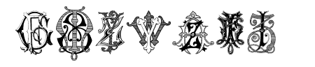 Intellecta Monograms Random Samples Seven Sample