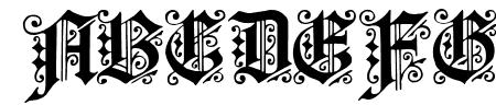 Fortuna Gothic FlorishC Sample