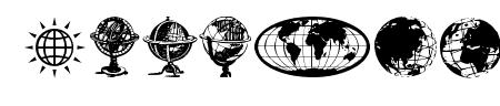 Globe Icons Sample