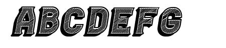 Casino 3D Lines Italic Sample