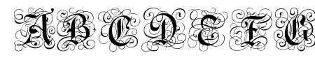 Gothic Caps Sample