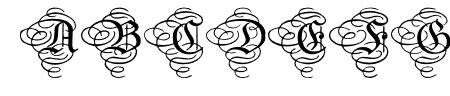 Aristokrat Zierbuchstaben Sample